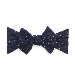 N L - Pattern Headband Knot - Navy Polka Dot