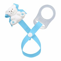 Baby Buddy - Paci Holder Teddy Bear - Light Blue