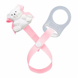 Baby Buddy - Paci Holder Teddy Bear - Light Pink