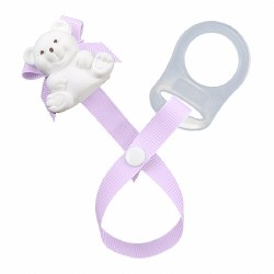 Baby Buddy - Paci Holder Teddy Bear - Lilac