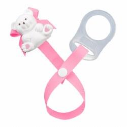 Baby Buddy - Paci Holder Teddy Bear - Pink