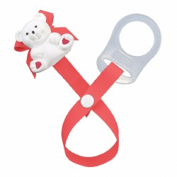 Baby Buddy - Paci Holder Teddy Bear - Red