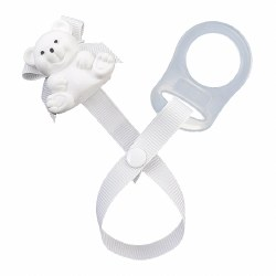 Baby Buddy - Paci Holder Teddy Bear - White