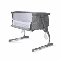 Baby Delight - Beside Me Dreamer Bassinet & Bedside Sleeper - Charcoal Tweed