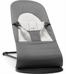 Baby Bjorn - Bouncer Balance Soft - Cotton Dark Grey/Grey