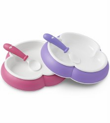 Baby Bjorn - Baby Plate & Spoon - Pink & Purple