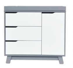 Babyletto - Hudson 3-Drawer Changer Dresser - Grey/White