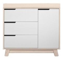 Babyletto - Hudson 3-Drawer Changer Dresser - Washed Natural/White