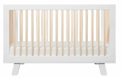 Babyletto - Hudson 3-In-1 Convertible Crib - White/Washed Natural