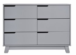 Babyletto - Hudson 6-Drawer Assembled Double Dresser Grey