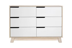 Babyletto - Hudson 6-Drawer Assembled Double Dresser Washed Natural/White