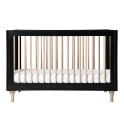 Babyletto - Lolly 3-in-1 Convertible Crib - Black/Washed Natural