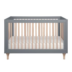 Babyletto - Lolly 3-in-1 Convertible Crib - Grey/Washed Natural