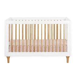 Babyletto - Lolly 3-in-1 Convertible Crib - White/Natural