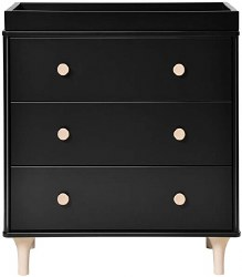 Babyletto - Lolly 3-Drawer Changer Dresser - Black/Washed Natural