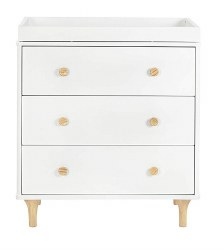 Babyletto - Lolly 3-Drawer Changer Dresser - White/Natural