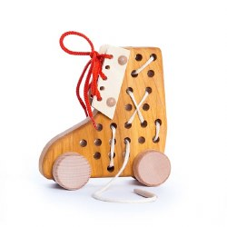 Bajo - Lace Up Roller Shoes - Natural