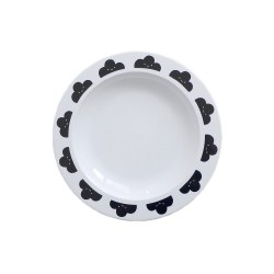 - Plates - Happy Clouds Black