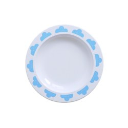 - Plates - Happy Clouds Blue