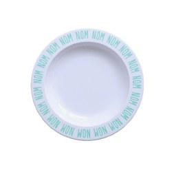 - Plates - Nom Nom Nom Blue