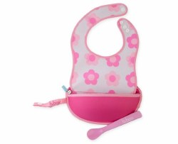Bbox - Travel Bib and Spoon Set - Flower Power