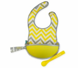 Bbox - Travel Bib and Spoon Set - Mellow Lellow
