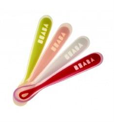 Beaba - Silicone Spoons - Neon