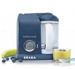 Beaba - Babycook Pro Baby Food Blender and Steamer - Navy Blue