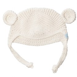 Beba Bean -  Crochete Bear Hat Ivory