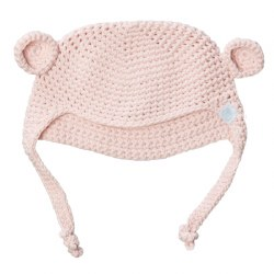 Beba Bean -  Crochete Bear Hat Pink