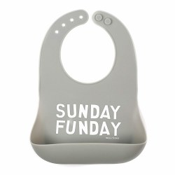 Bella Tunno - Wonder Bib -  Grey Sunday Funday