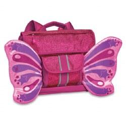 Bixbee - Flyer Small Backpack - Sparkalicious Butterfly Ruby