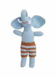 Bla Bla - Animal Rattle Blue Elephant