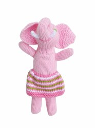 BlaBla - Animal Rattle Pink Elephant