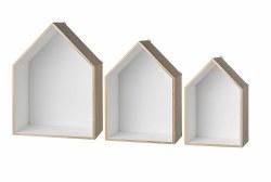 N L - Set of 3 Wood Display Houses