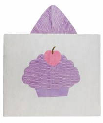 N L - Big Hooded Towel - Cupacke Lavander