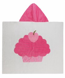 N L - Big Hooded Towel - Cupacke Pink