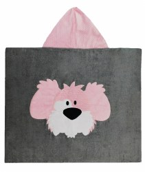 N L - Big Hooded Towel - Dog Pink