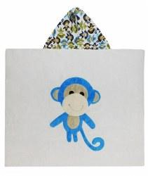 N L - Big Hooded Towel - Monkey Blue