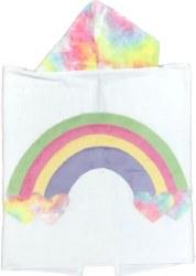 N L - Big Hooded Towel - Rainbow Pastel