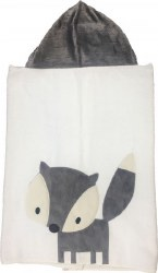 N L - Big Hooded Towel - Grey Fox