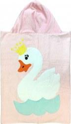 N L - Big Hooded Towel - Swan Lake Pink