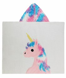 N L - Big Hooded Towel - Unicorn Cotton Candy