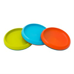 Boon - Plate Nonskid 3 Pack Blue Multi