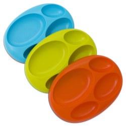 Boon - Platter Edgeless 3 Pack Plate Blue Multi