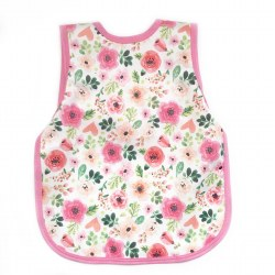 Bapronbaby - Toddler Bapron Waterproof Bib - Bubblegum Floral