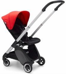 Bugaboo - Ant Complete Stroller Aluminum - Black - Neon Red