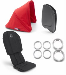 Bugaboo - Ant Style Set - Black- Neon Red
