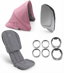 Bugaboo - Ant Style Set - Grey Melange - Pink Melange
