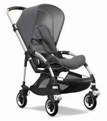 Bugaboo - Bee5 Complete Stroller - Aluminum /Grey Melange/Grey Melange